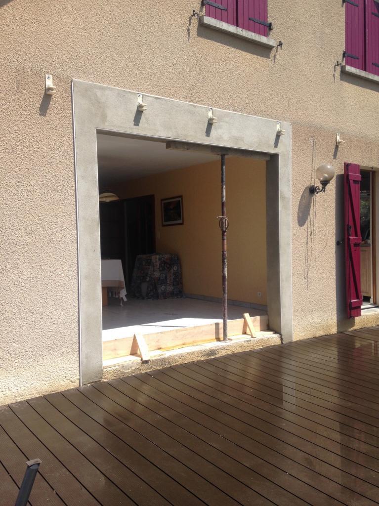 Ouverture de mur porteur sur extérieur